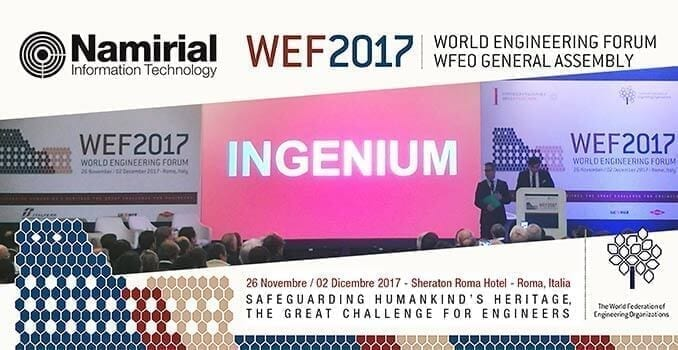 Namirial Official Sponsor WEF 2017
